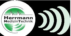 Logo mit Schallwellen